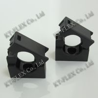 Nylon mounting brackets for corrugated flexible conduit