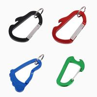 Personalized Blank Aluminum Carabiner Keychain Bottle Opener