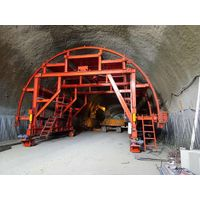 Tunnel waterproof board laying formwork