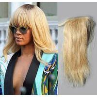 Wholesale 4*4inch Virgin Hair Remy Human Hair Top Lace Closure thumbnail image