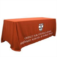 6ft 8ft trade show table runner throw fitted logo custom printed table cloth table cover thumbnail image