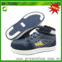 Popular China wholesale shoes children high cut kids casual shoe
