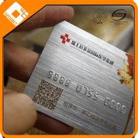 Luxury Sliver brushed business embossed cards PVC plastic printing thumbnail image