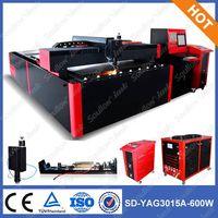 SD-YAG3015-600W laser cutting machine for brass sheet cutting