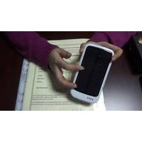 3700mah solar battery charger with 4LED indicators for iphone4/5 samsung blackberry HTC and other sm