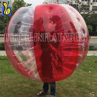 D5063 Factory price 1.2m diameter bubble football, giant inflatable soccer ball for children