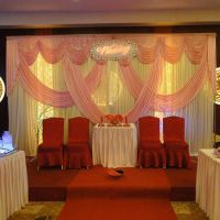 pink wedding backdrop background decoration