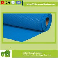 Laminated roll media with spot mesh for panel air filter