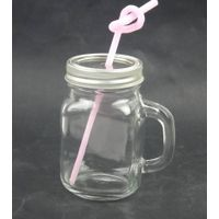 100ml manson glass jar with handle