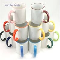 11oz sublimation color rim&handle mug thumbnail image
