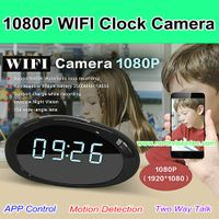 WI-B1080, 1080P WIFI Clock Camera,FHD 1080P,158 degree wide-angle lens,H.264,App Control,Support 64G