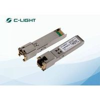 RJ45 100m SFP Optical Transceiver 1.25Gb/s For 1000BASE COPPER TX Ethernet