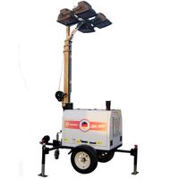 portable trailer light towers 4x1000w metal halide for construction thumbnail image