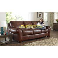 HALI, Classical style leather sofa