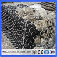 Hexagonal Hole Shape and Plastic Coated Iron Wire Material gabion baskets (Guangzhou Factory)