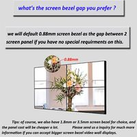 Customized 55 Inch 3X3 0.88mm Bezel Full Hd Interactive Indoor Lcd Advertising Wall Mounted Video Wa thumbnail image