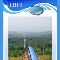 libo long distance curved belt conveyor system for material handling equipment