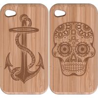 2013 new logo engraving wood cases for iphone5/5s