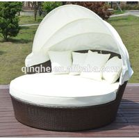 rattan garden furniture outdoor daybed lounger wicker lounger,cheap outdoor patio daybed with canopy