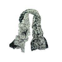 viscose chenille women leopard printing cape scarf