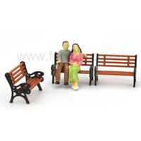 scale bench chair scale park chair for model train layout thumbnail image