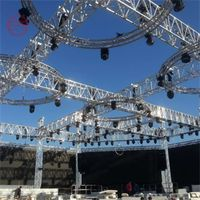 Concert stage roof truss display with truss lift tower thumbnail image