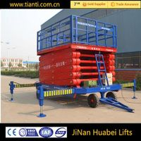 CE scissor lift aerial platform with mobile