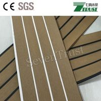 Marine PVC decking with black stripes for boat yacht