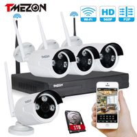 Water proof 1.3MP 4CH Wireless WiFi NVR IP Camera Kits with Long Distance Signal thumbnail image