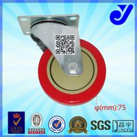 JY-302|Plate universal caster|3/4/5 inch wheel|Industrial rubber casters