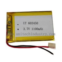 Lithium polymer battery Pack 603450 1100mAh 3.7V lipo battery