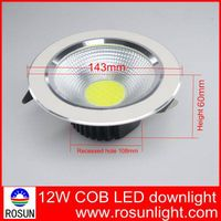 Hight quality 3 years warranty IP44 12W COB LED downlight
