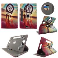 HD print design universal leather tablet case fit for most of the hot sale brand name models