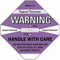 Impact Indicator Sticker Shockwatch Label Damage Control Shock Sensor Shipping Label