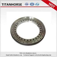 Single-row four point contact slewing bearing for packaging amchinery
