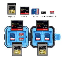 PULUZ 9 in 1 Memory Card Case for 2XQD + 2CF + 2TF + 3SD Card