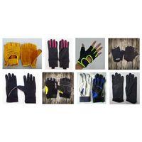 PVC Palm Sports Fingerless Gloves