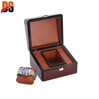 High quality wood veneer watch case for men with customer's name plate thumbnail image