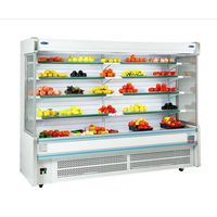 Compressor inside fruit refrigerator supermarket refrigerator for fruit display