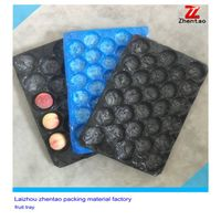 Disposable plastic fruit and vegetable tray