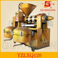 integrated sunflower oil press machine with oil filter machine
