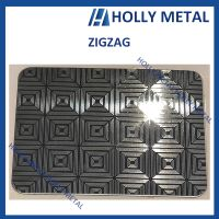 Stainless Steel Decorative Sheet Grade 201 304 (Zigzag)