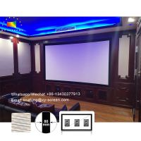 Home Cinema Factory Projector Screen 4K Woven Acoustically Transparent Fabric Fixed Frame Screens