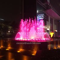 Modern Art Stainless Steel Waterfall Pool Fountain For Mall