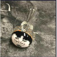 Glass Hand Pipe Spoon with Glass Character Face Not Painting thumbnail image