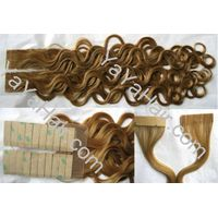 Human Hair Hair Extension with Two-side Tape thumbnail image