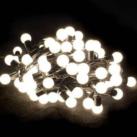 Warm white 100 LED lights string bulb light outdoor for Christmas party wedding thumbnail image