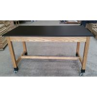 Phenolic Resin Top Science Lab Table: school lab furniture, moving lab table w/ 4 locking casters thumbnail image