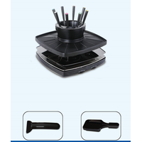 Fondue grill chafing dish hot pot