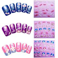 Decorative sweet nail sticker non toxic for women